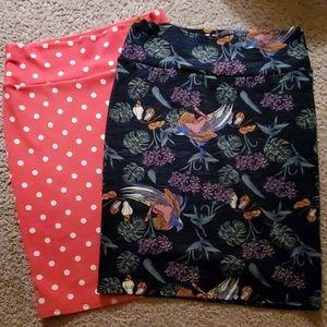 2x LuLaRoe Cassie skirts